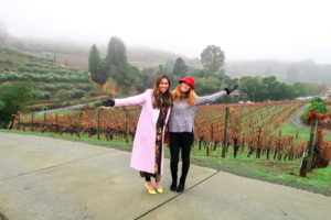 Lauren and I in Sonoma Winery